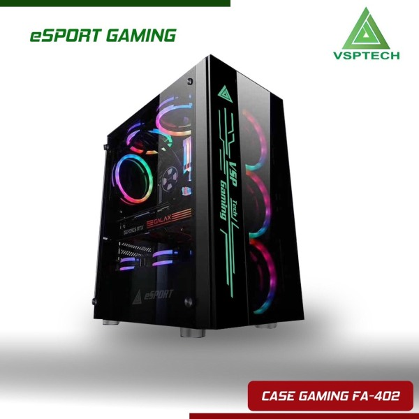 Giá Case VSP FA-402 eSPORT Gaming Có Sẵn LED RGB