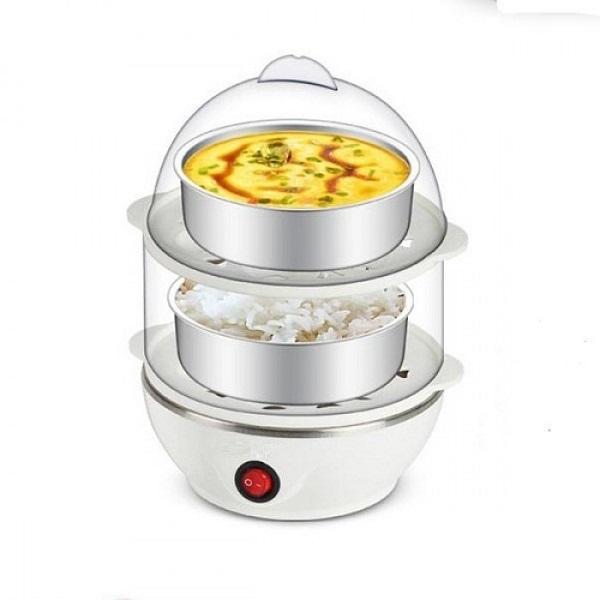 Máy luộc trứng hấp thức ăn đa năng 2 tầng
