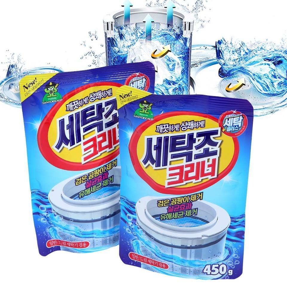 Com Bo 2 Gói Bột Tẩy Vệ Sinh Lồng Máy Giặt Hàn Quốc 450g Giảm Cực Sốc