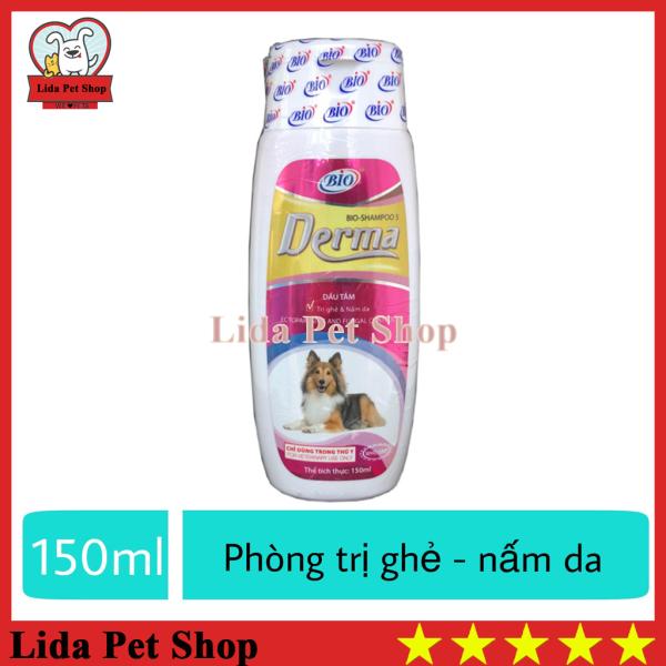 [Lấy mã giảm thêm 30%]HN- Sữa tắm diệt ve ghẻ nấm da cho chó mèo - Bio Derma 150ml - Lida Pet Shop