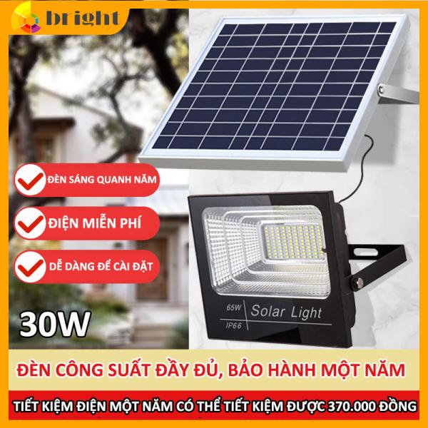 Đèn LED năng lượng mặt trời 30W 60W Ánh sáng trắng Có điều khiển từ xa tiện lợi và thông minh Thân Vỏ Nhôm Tiêu chuẩn chống nước và chống bụi IP67