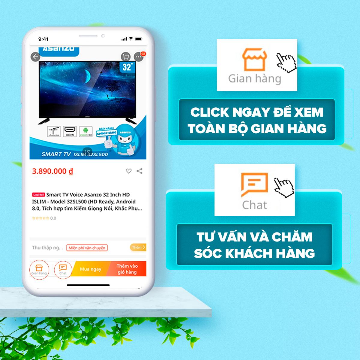 Tivi LED HD 32 Inch Asanzo 32T31 (AV, HDMI, VGA, DVB-T2, DVB-C, Âm Thanh  Infinite) - Bảo Hành 2 Năm
