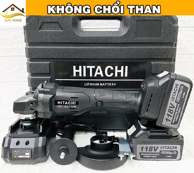[ SALE GIÁ GỐC ] Máy Cắt Góc Cầm Tay Hitachi 118V KHÔNG CHỔI THAN-  Máy Mài Pin , Máy Cắt , Máy Cưa, Máy Đánh Bóng , Máy Mài Cầm Tay - 100% lõi đồng - Máy mài dùng pin 10 cell , máy cắt cầm tay
