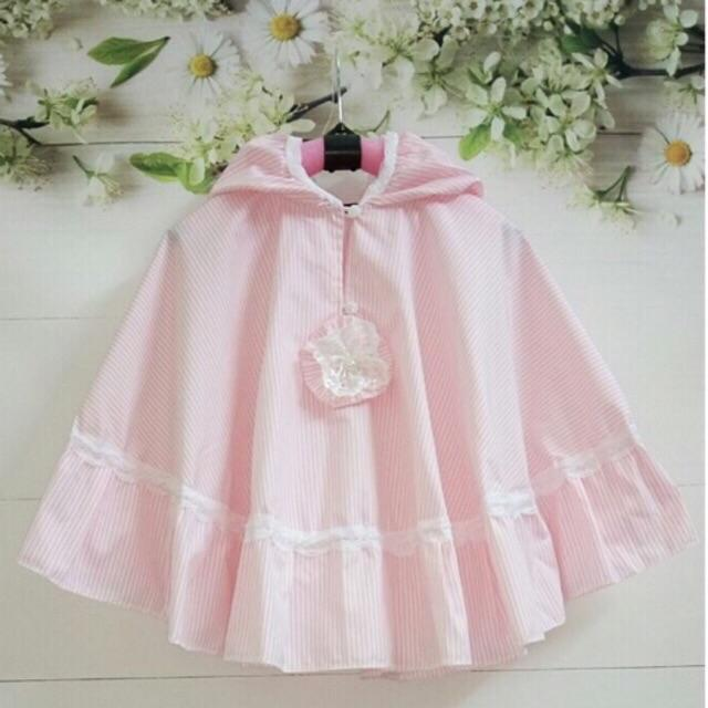 Áo choàng chống nắng màu hồng cho bé gái