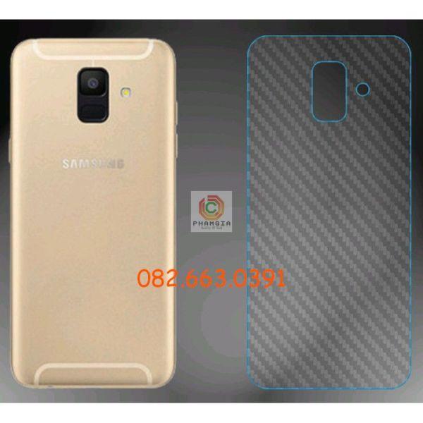Miếng dán mặt lưng skin carbon Samsung Galaxy A6 2018/ A6 Plus