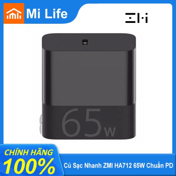 Bộ Sạc Xiaomi ZMI HA712 65W USB C Bộ Sạc PD Nhỏ Gọn Có Thể Gập Lại Hỗ Trợ Maxi 5.0A QC Cho IPhone Macbook Thêm