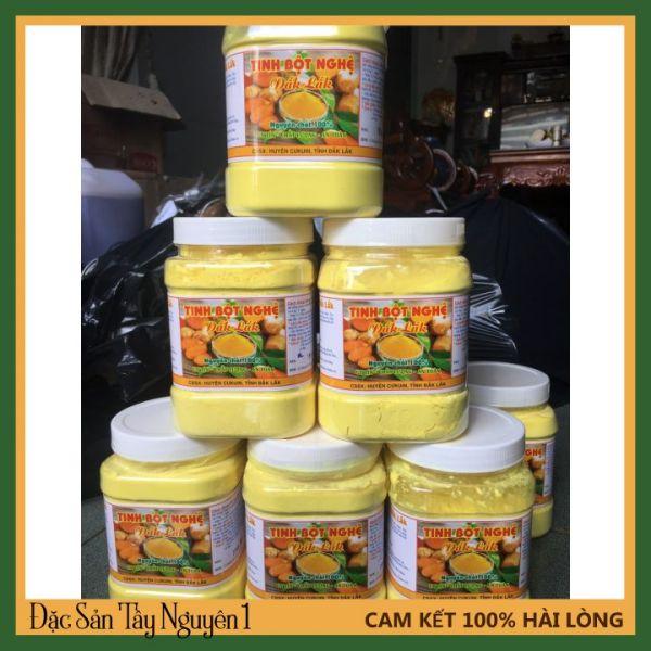 Tinh Bột Nghệ Nguyên Chất Đăk Lăk Sạch 100% - Hổ trợ đau dạ dày, tiêu hóa,Đắp Mặt, Chăm Sóc Sức Khỏe, Làm Đẹp - Lọ 500 Gam nhập khẩu