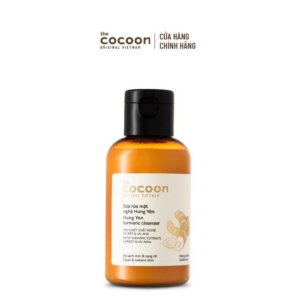 Sữa rửa mặt nghệ Hưng Yên Cocoon giúp da sạch mịn và rạng rỡ 140ml