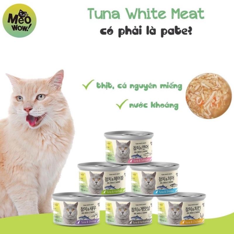 Thịt hộp cá ngừ White Tuna Meat Hàn Quốc cho mèo lon 80g