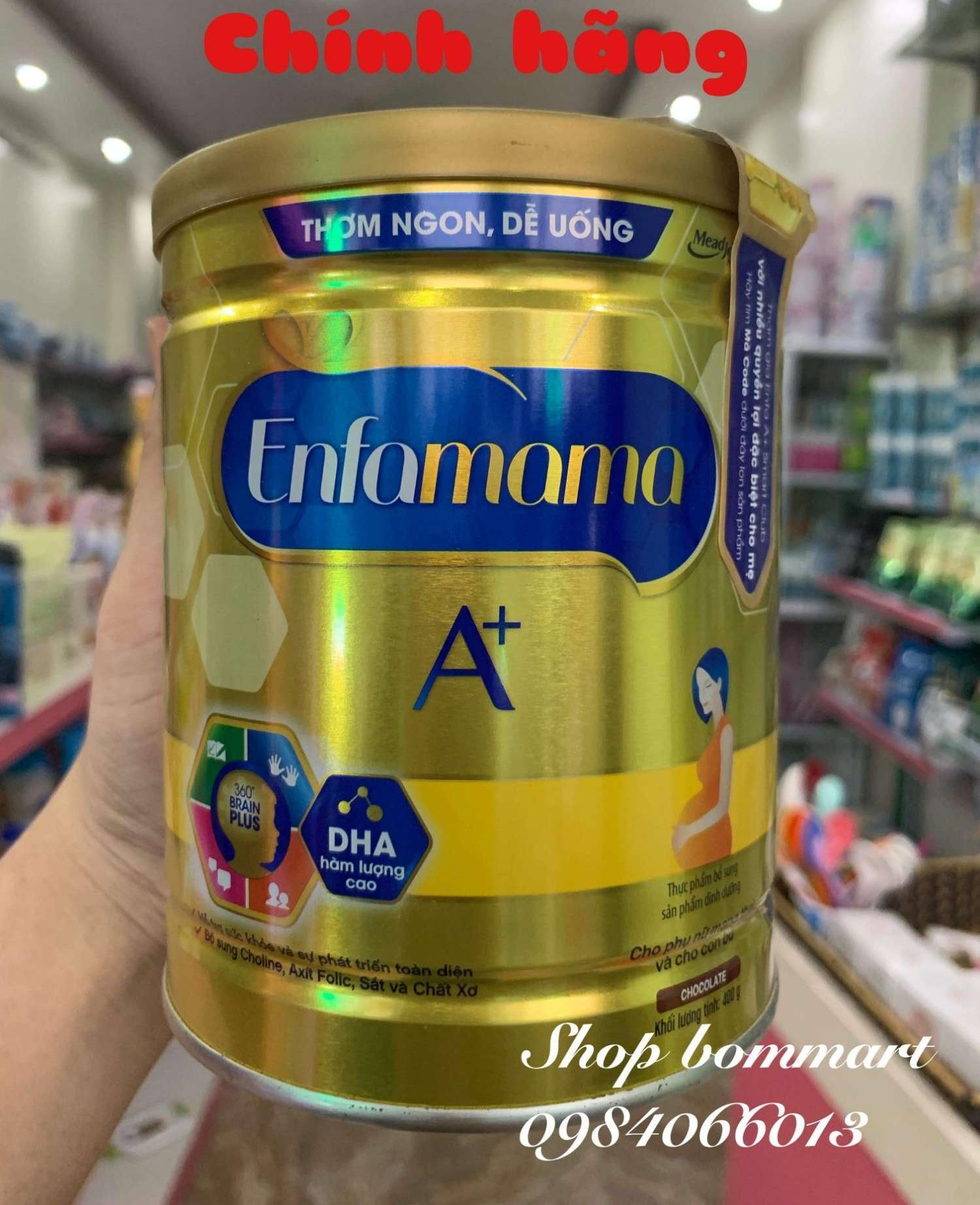 Sữa bầu enfamama a+ vị chocolate hộp 400g nhập khẩu