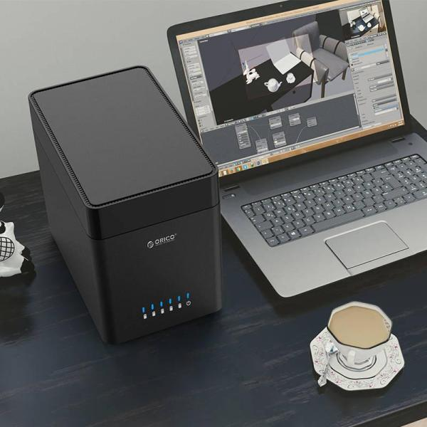 Giá Box gắn thêm 5 HDD Orico DS500U3, hỗ trợ ổ cứng 50T, Usb 3.0
