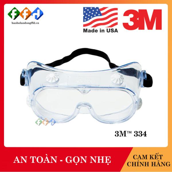 Kính bảo hộ chống hóa chất 3M 334 Mắt kính chống tia UV,chống khói bụi,trầy xước,bảo vệ mắt,đeo được kính cận viễn [FFD]