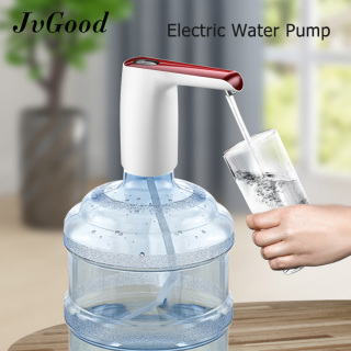 JvGood Electric Water Dispenser Pump Automatic Electric Drinking Water Bottle Pump Mini Switch Wireless Rechargeable With Micro USB Cable thumbnail