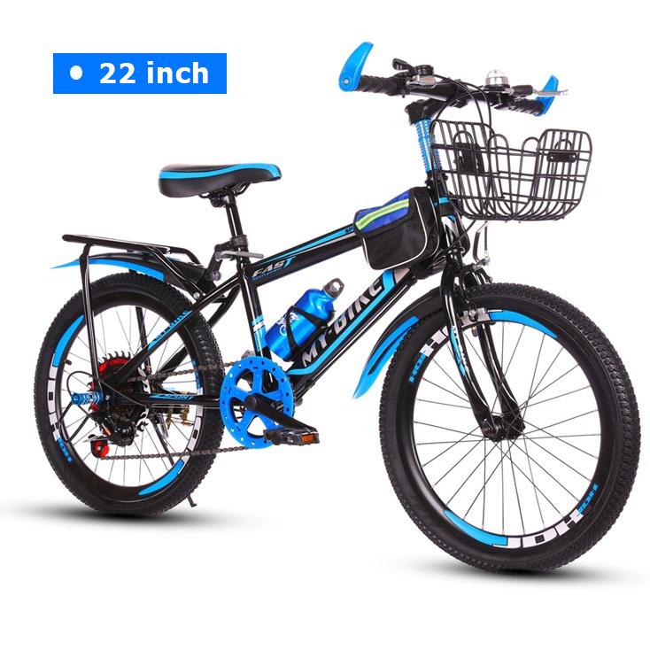Xe đạp thể thao cho trẻ em Size 22' inch phù hợp từ 9-15 tuổi cho trẻ học cấp 2 (Đỏ, Xanh dương)