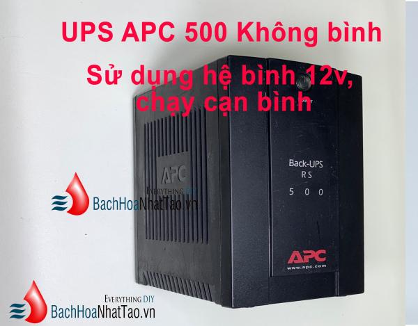 Bảng giá Bộ lưu điện ups APC 500 không bình acqui Phong Vũ