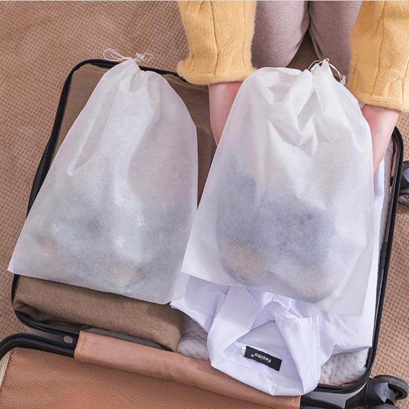 Combo 5 Túi Đựng Giày Dép, Quần Áo Dây Rút / Túi Bảo Quản Đồ Dùng Chống Bẩn (Trắng) giá rẻ
