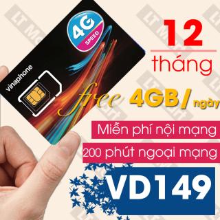 Sim 4G Vinaphone VD149 Miễn phí gọi nội mạng + 120GB tháng+ 200 phút ngoại mạng +200 tin nhắn chỉ với 149k tháng. thumbnail