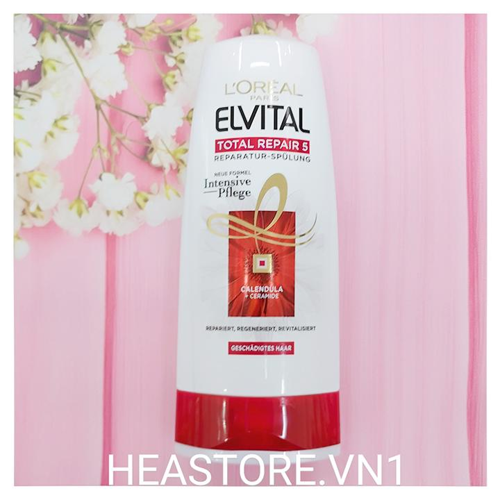 Dầu xả Elvital Total Repair 5 Repair - 250ml
