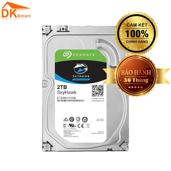 Bảng giá Ổ cứng HDD Seagate Skyhawk 2TB 3.5 SATA 3 - ST2000VX008, BH 36 Tháng-Hàng Chính Hãng Phong Vũ