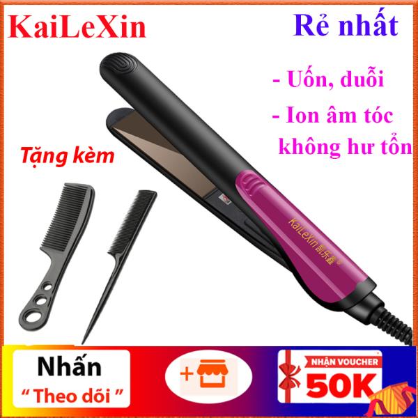 Rẻ vô địch - Máy  duỗi tóc KaiLeXin dùng để ép thẳng, uốn cụp, uốn xoăn Ion âm bảo vệ tóc, nhỏ gọn tiện lợi (Hàng bảo hành) cao cấp