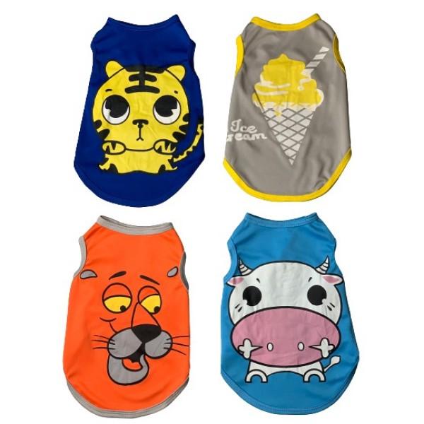 Quần áo cho chó, áo cho thú cưng, quần áo chó mèo, áo 3 lỗ chó mèo phù hợp trời trang mùa hè của cún
