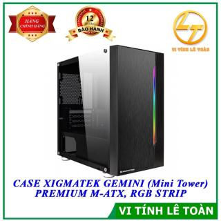 CASE XIGMATEK GEMINI (MINI TOWER) PREMIUM M-ATX, RGB STRIP thumbnail