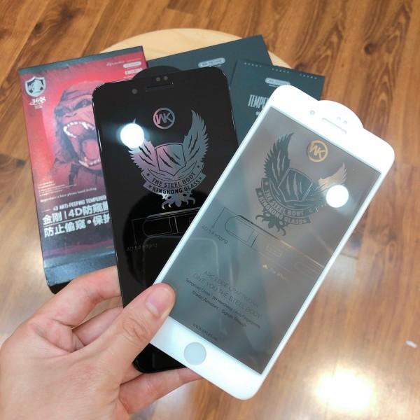 Kính Cường Lực 4D Kingkong Chống Nhìn Trộm Iphone 12 / 12 Pro Max / 7P / 8P / X / XS / Xs Max / 11 / 11 Pro / PRO MAX