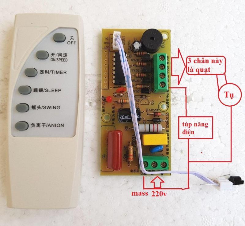[Hàng nội địa Trung] Bộ mạch điều khiển quạt từ xa,điều khiển từ xa cho quạt - Bộ mạch điều khiển quạt