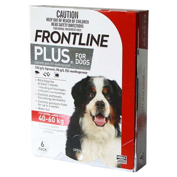 Frontline® Plus size XL cho chó từ 40k - 60 kg (4,02ml/ống x 6 ống/hộp)