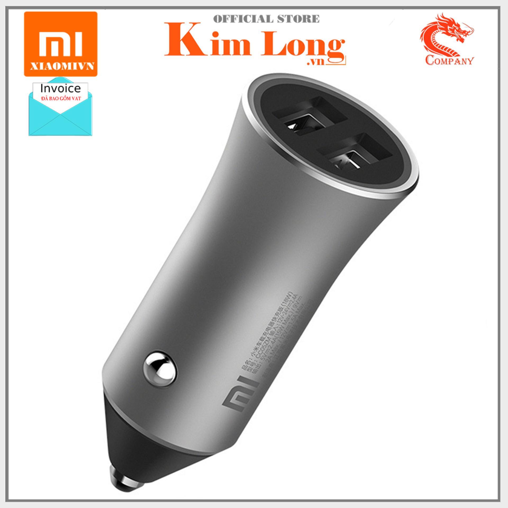Sạc ô tô xe hơi Xiaomi Pro car charger 2 Usb, QC 3.0 (18 W) - Bảo hành chính hãng