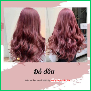 Thuốc nhuộm tóc Đỏ dâu dành cho cả nam và nữ kèm oxy trợ nhuộm găng tay thumbnail