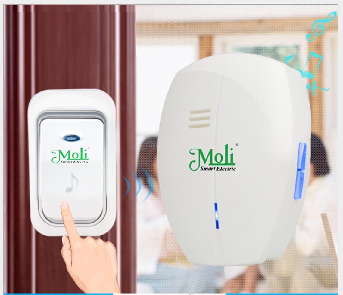 chuông ko dây chống nước moli LM-DB2N -sản phẩm sang trọng-KT MART