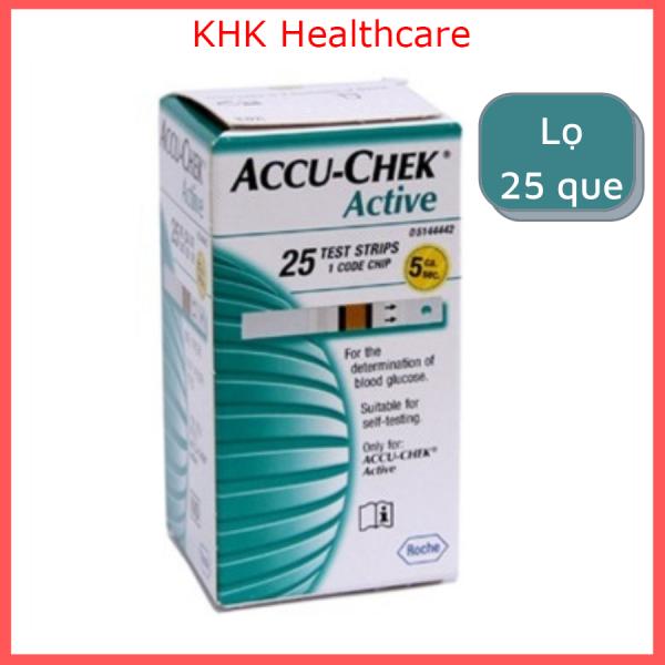 Nơi bán Que thử đường huyết Accuchek Active (lọ 25 que) KHK Healthcare