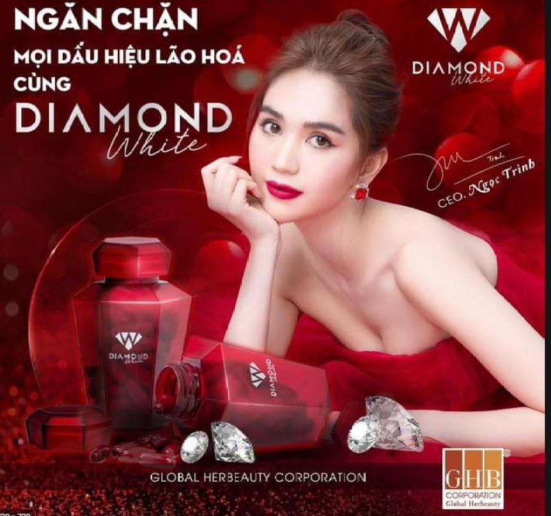 Viên uống trắng da Ngọc Trinh Beauty Diamond White Plus 5.0 tem cào mã QR