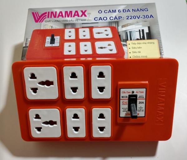 Ổ cắm điện lõi Sứ chịu tải Vinamax kèm APTOMAT (Có dây kéo dài 3m-5m)