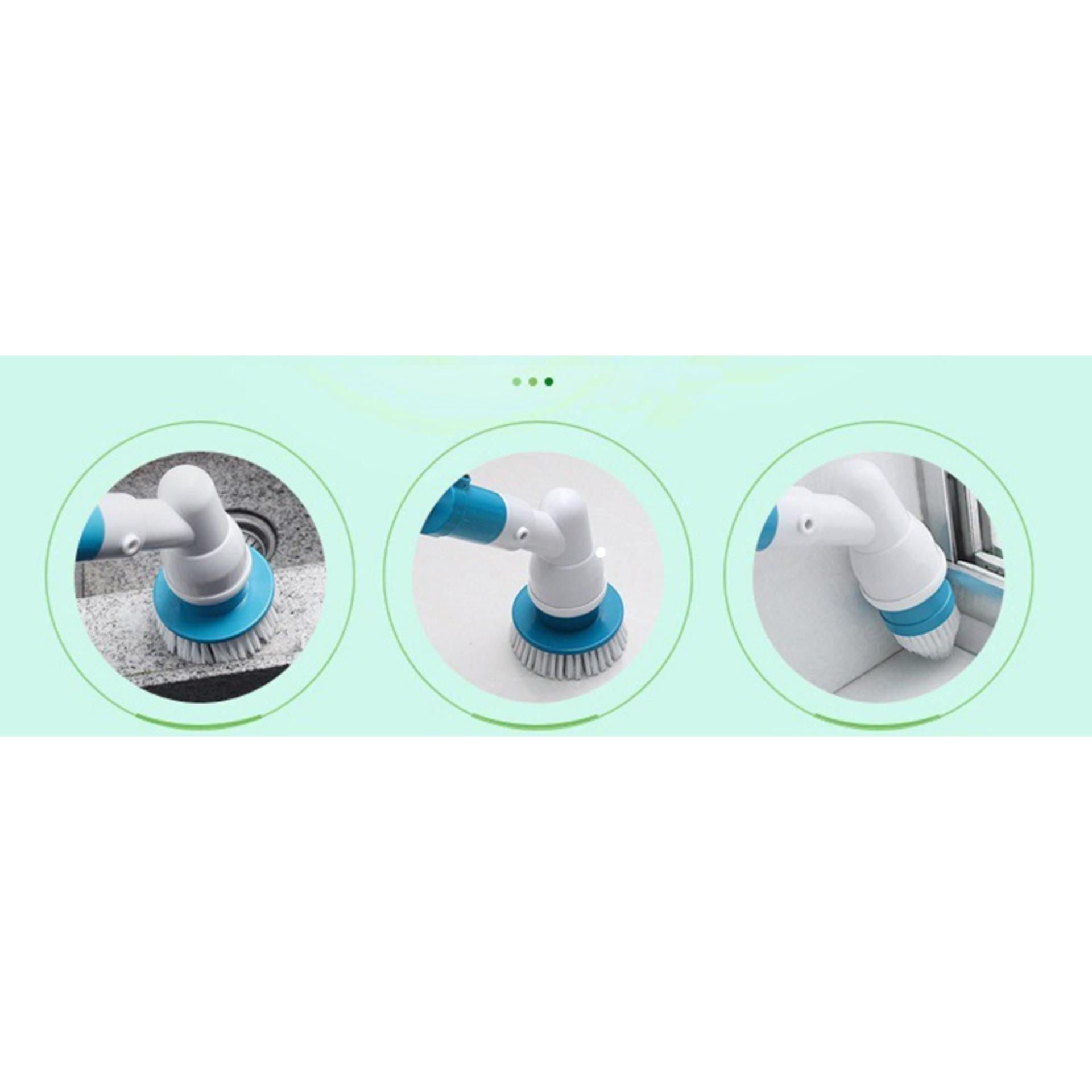 Cay Lau Nhà, Chổi Lau Sàn, Dụng cụ lau nhà cao cấp -chỉ với 1 lần sạc pin có thể sử dụng lên tới 1.5h đồng hồ - BH 6 tháng