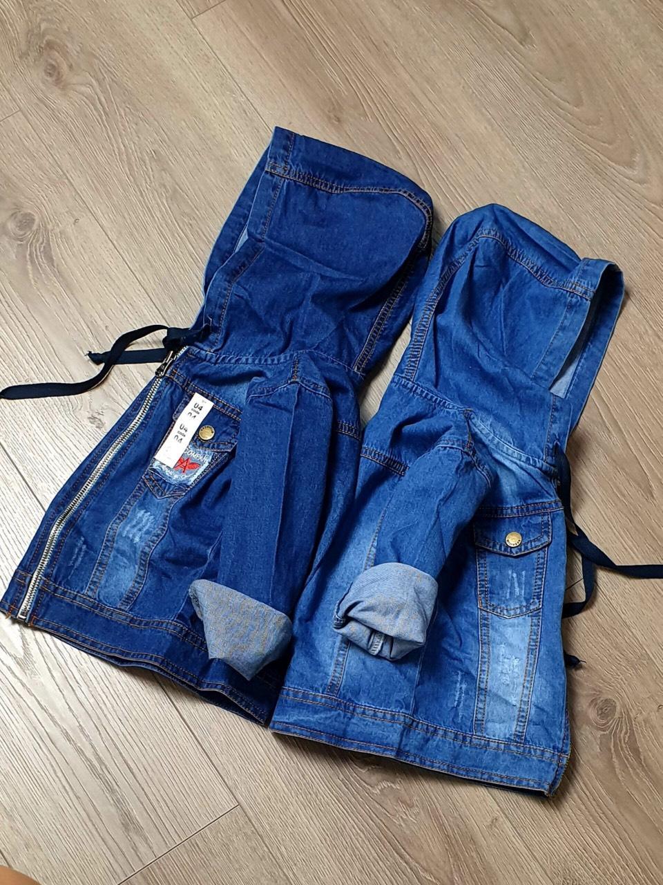 Áo khoác jeans có nón, áo khoác jeans cho bé trai bé gái