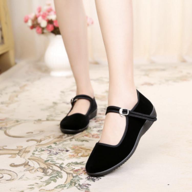 Giày sandal chéo bọc ngón (Đen)