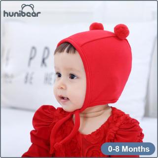 MŨ Trẻ Em Mũ Trẻ Em Bé Trai Và Bé Gái Bông Nguyên Chất Bóng Đèn Đôi Puffball Mũ Trẻ Sơ Sinh Mũ Trẻ Em Cho 0-8M