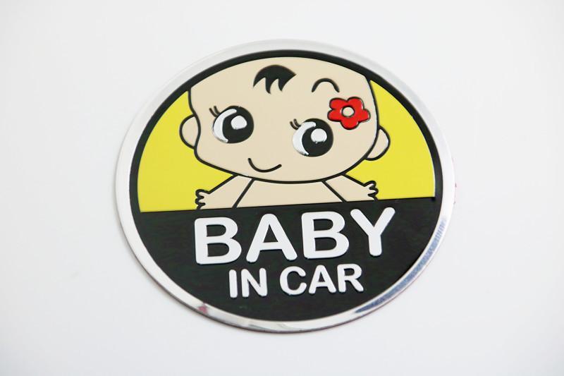 Logo dán kim loại BABY IN CAR