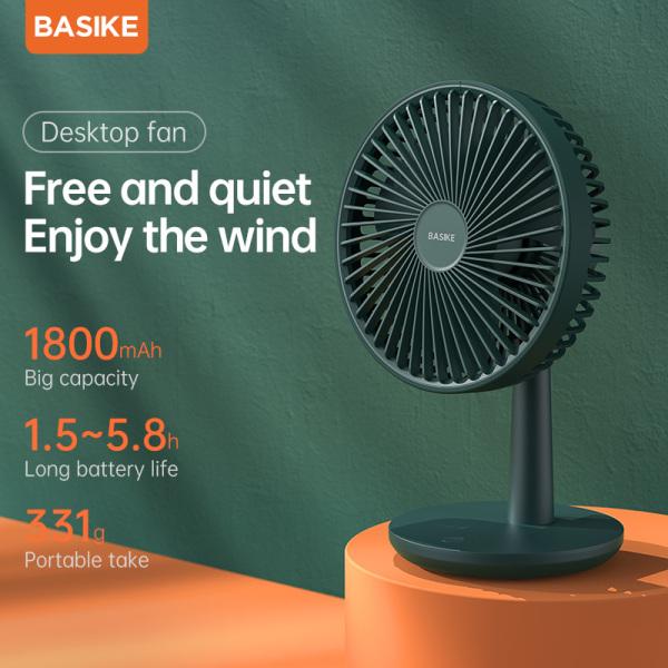 Quạt mini quạt sạc điện quạt bàn 3 Cấp Độ Gió Pin pin siêu bền Nhỏ Gọn Độ Ồn Thấp BASIKE(FA08)