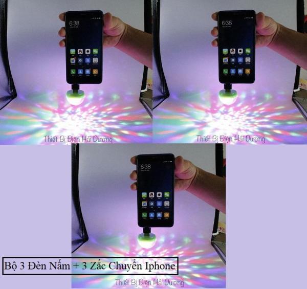Bộ 3 Đèn Led Vũ Trường USB Cảm Ứng Theo Nhạc (Có zắc chuyển chân ) - Có Video