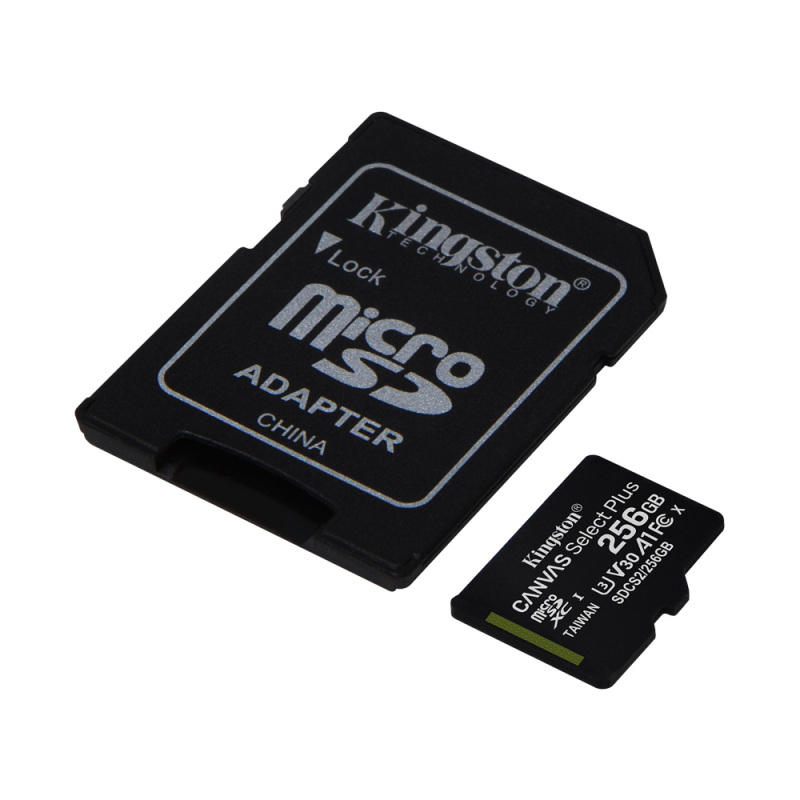 Thẻ Nhớ MicroSDHC Kingston Canvas Select Plus 256GB Class 10 U1 100MB/s SDCS2/256GB (Kèm Adapter)