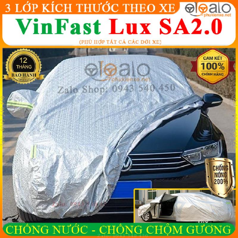 Bạt phủ ô tô VinFast Lux SA2.0 CAO CẤP Cách Nhiệt, Bạt phủ xe ô tô VinFast Lux SA2.0, Bạt che ô tô VinFast Lux SA2.0, Bạt trùm xe ô tô VinFast Lux SA2.0