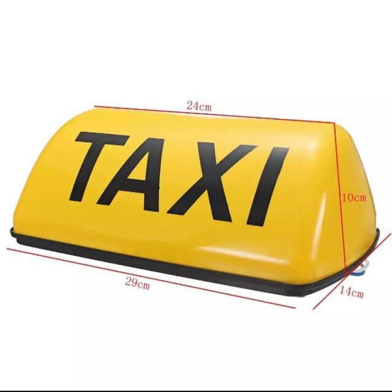 mào taxi vàng - có đèn - đế nam châm