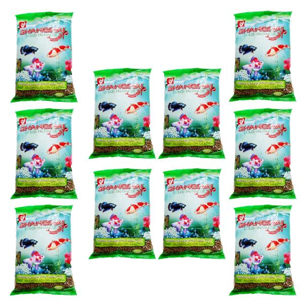 Combo 10 Gói Thức Ăn Cá ShangHai Viên Vừa 500g - Cám Cá Cảnh