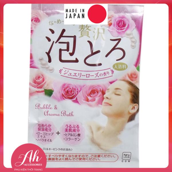 Muối tắm dưỡng ẩm thương hiệu Bò nội địa Nhật Bản chứa thành phần dưỡng ẩm Collagen dầu novara chiết xuất hương hoa hồng giá rẻ