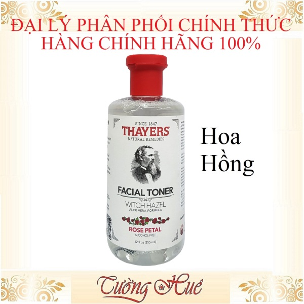 Nước hoa hồng Thayers Rose Petal Alcohol Free Witch Hazel Toner - 355ml - Hoa Hồng