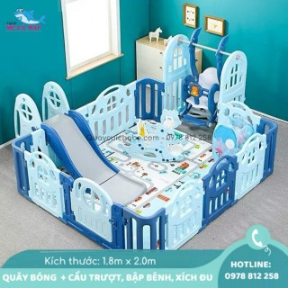 Bộ quây bóng Holla Kiddy bé trai 1m8x2m full 8 món, hàng sẵn sỉ lẻ thumbnail
