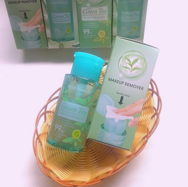 NƯỚC TẨY TRANG Kiss Beauty GREEN TEA 180ml nhập khẩu